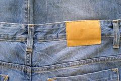 Tissu de texture de couleur de bleu de vêtements de jeans Photo libre de droits