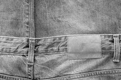 Tissu de texture de couleur de monochrome de vêtements de jeans Photographie stock