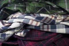 tissu de tissu de flanelle de plaid images stock