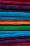Tissu de tissu soigné empilé vers le haut photographie stock