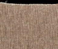Tissu de toile brut simple naturel de Brown - toile Texture de fond de tissu de toile de jute de Brown Image libre de droits