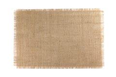 Tissu de toile de jute d'isolement sur le fond blanc photo stock