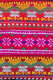 Tissu de travail manuel de tradition de fond de tribu de colline, Thaïlande Image libre de droits
