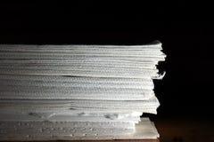 Tissu empilé Photographie stock libre de droits
