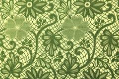 Tissu en fleurs vertes, un fond Images libres de droits