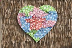 Tissu en forme de coeur Images libres de droits