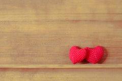 Tissu en forme de coeur Photos stock