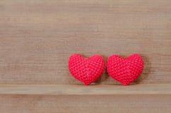 Tissu en forme de coeur Photographie stock libre de droits