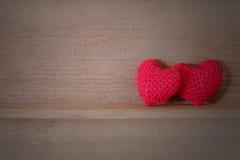 Tissu en forme de coeur Images stock