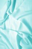 Tissu en soie bleu Images stock