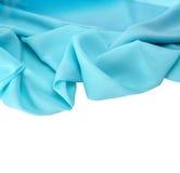 Tissu en soie bleu de fond Image stock