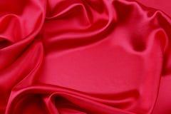 Tissu en soie rouge Photos libres de droits
