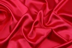 Tissu en soie rouge Image libre de droits