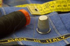 Tissu fabriqué en Italie Photographie stock