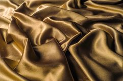 Tissu fait d'or métallique d'éclat de fil en métal de tissu en soie Jus Image libre de droits