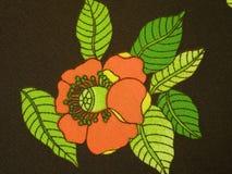 Tissu floral de Brown Images libres de droits