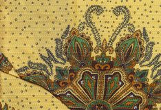 Tissu floral jaune Image stock