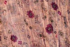 Tissu floral rose Images libres de droits