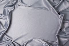 Tissu gris de satin images stock