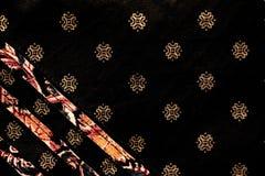 Tissu indien traditionnel avec le tissu estampé par main Photo libre de droits