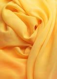 Tissu jaune Images stock