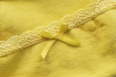 tissu jaune Photos libres de droits