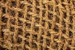 Tissu lâche de fond brut de vintage de fibre de jute photo stock