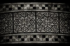 Tissu modelé noir et blanc Photos stock