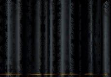 Tissu noir Images stock