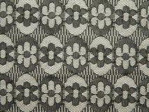 Tissu noir de lacet Photographie stock