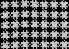 Tissu noir et blanc Images stock