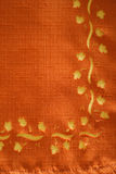 Tissu orange Images stock