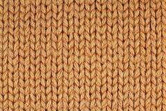 Tissu orange de laine Photo stock