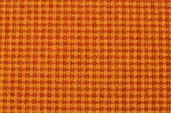 Tissu orange et jaune Photo stock