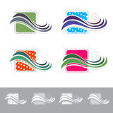 Tissu ou textile abstrait Logo Design Set illustration stock