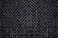 Tissu pelucheux de texture d'échecs Fond gris foncé photographie stock