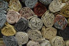 Tissu piquant Rolls pour les artisans avides Photographie stock libre de droits