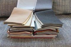 Tissu pour la tapisserie d'ameublement les meubles images libres de droits