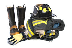 Tissu protecteur résistant de lutte contre l'incendie images stock