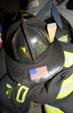 Tissu protecteur résistant de lutte contre l'incendie Photographie stock