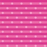 Tissu rose avec les points blancs Images libres de droits