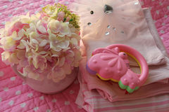 Tissu rose de bébé Image libre de droits