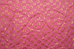 Tissu rose de vintage Images libres de droits