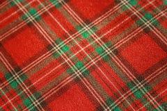 Tissu rouge écossais Photographie stock
