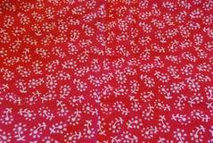 Tissu rouge Photos libres de droits