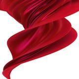 Tissu rouge Photos stock