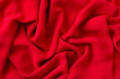 Tissu rouge Images libres de droits