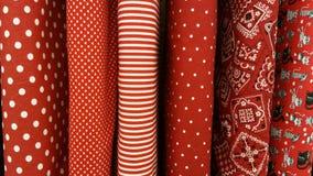 Tissu rouge Image libre de droits