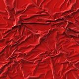 Tissu rouge chiffonné Photos stock