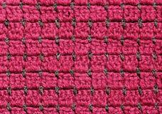 Tissu rouge de crochet Photo libre de droits